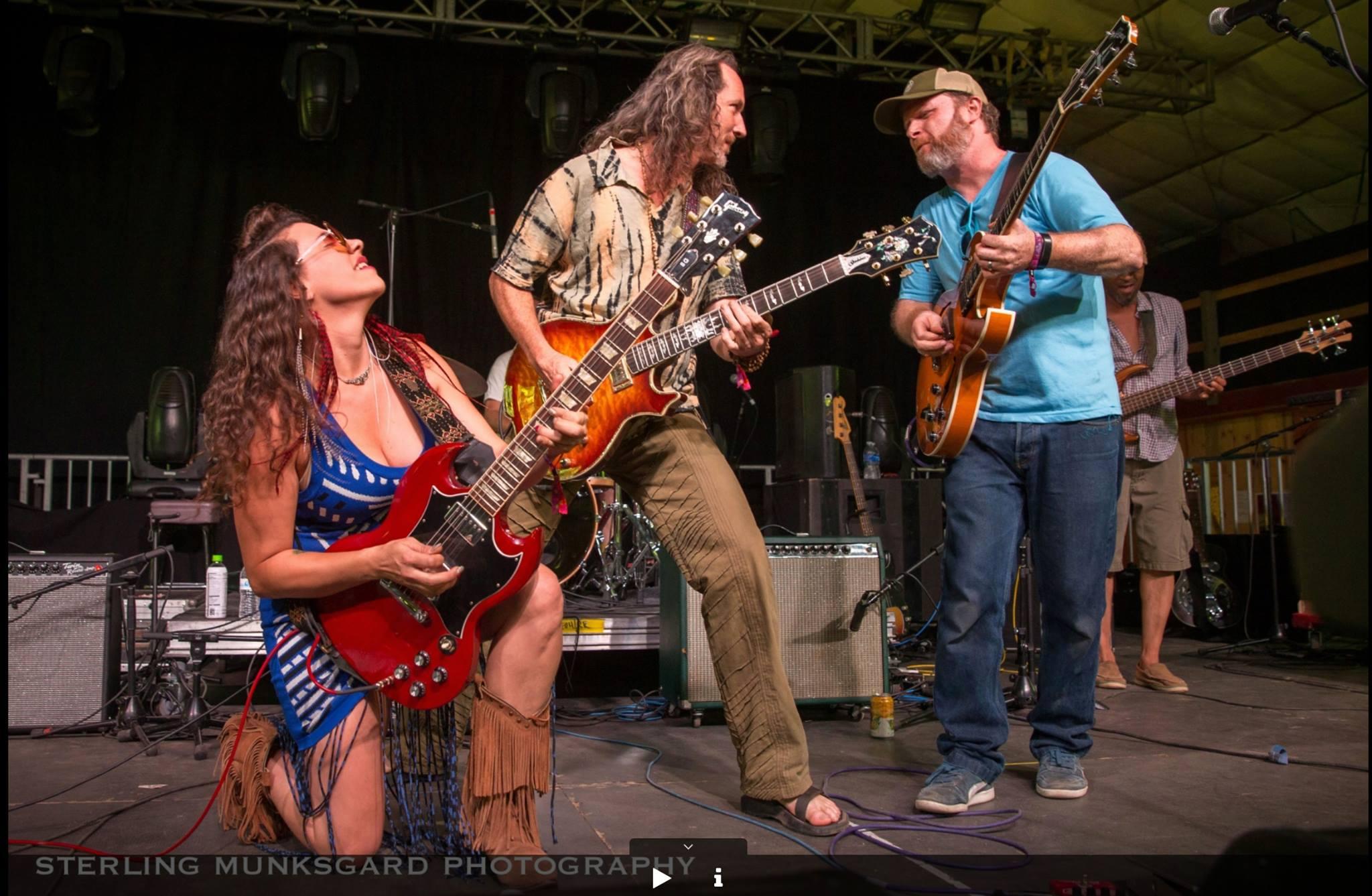 Pamela Parker & Sean Leahey, Guitarmageddon @ High Sierra Music Fest 2016